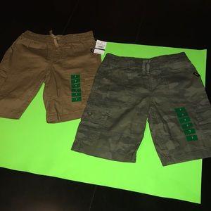 2 pairs of boys lee cargo shorts